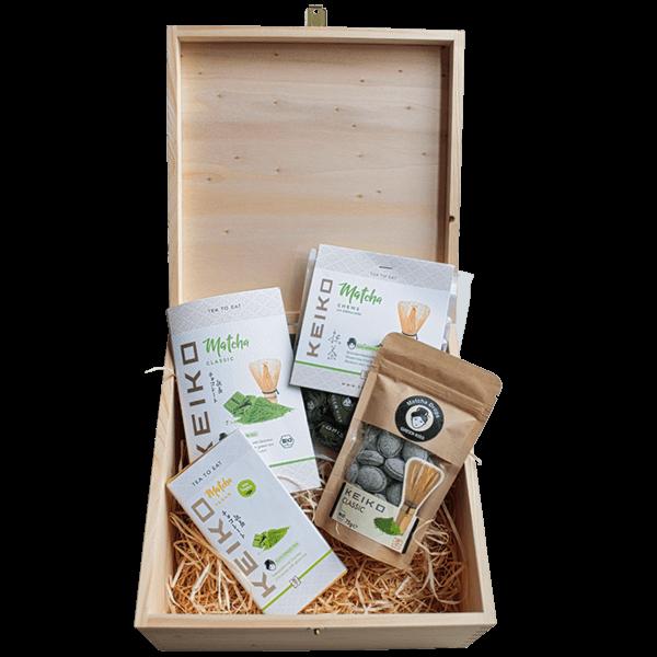 KEIKO Tea to Eat Geschenkset mit Holzkiste